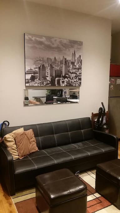 This is a great accommodation in Harlem with room for many. The apartment is very close to the subway and several lines go from 125th Street. Good working wi-fi. Suitable for a group that wants to live and hang out together.  - Cecilia Bjorkengren Nov. 2016 (4 Stars)