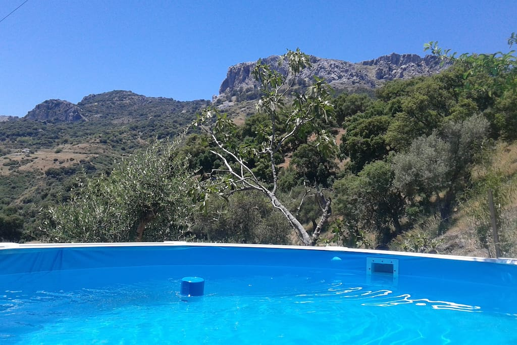 views to our penon from the finca pool.