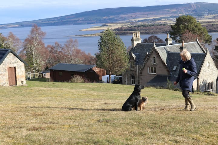 Back Garden overlooking Dornoch Firth.