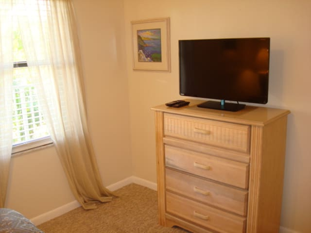 Bedroom w/ Flat Screen TV for your viewing convenience!