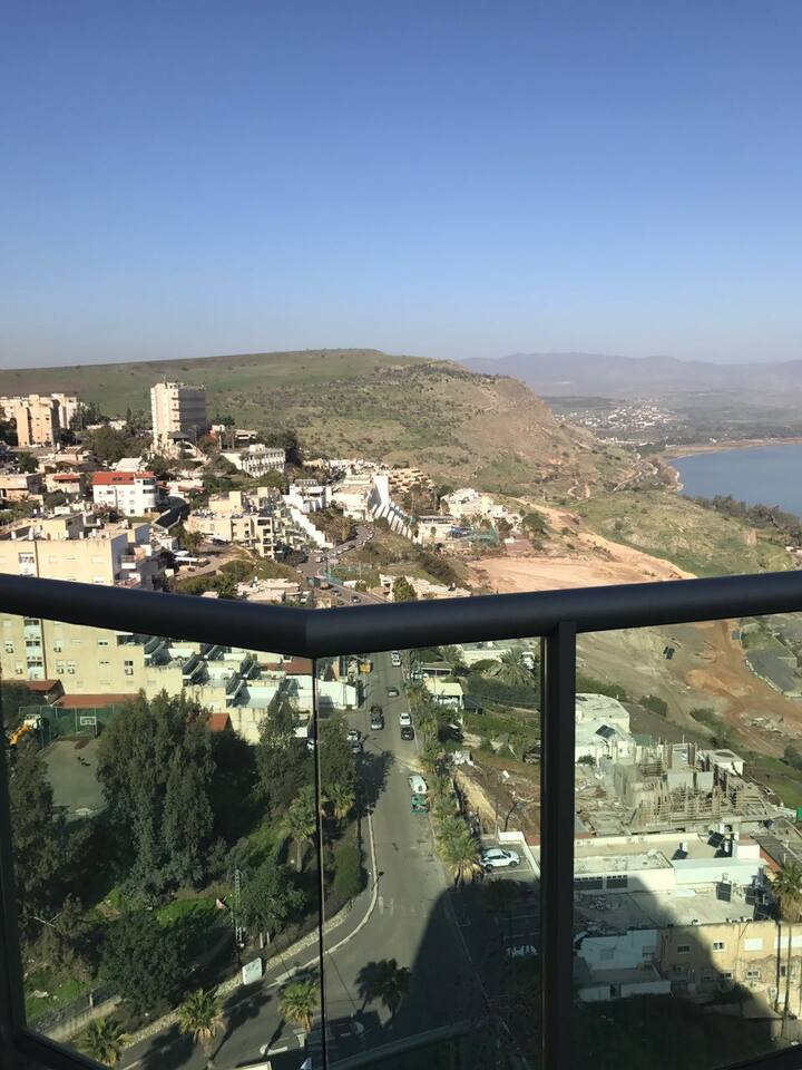 Penthouse overlooking the Sea of Galilee