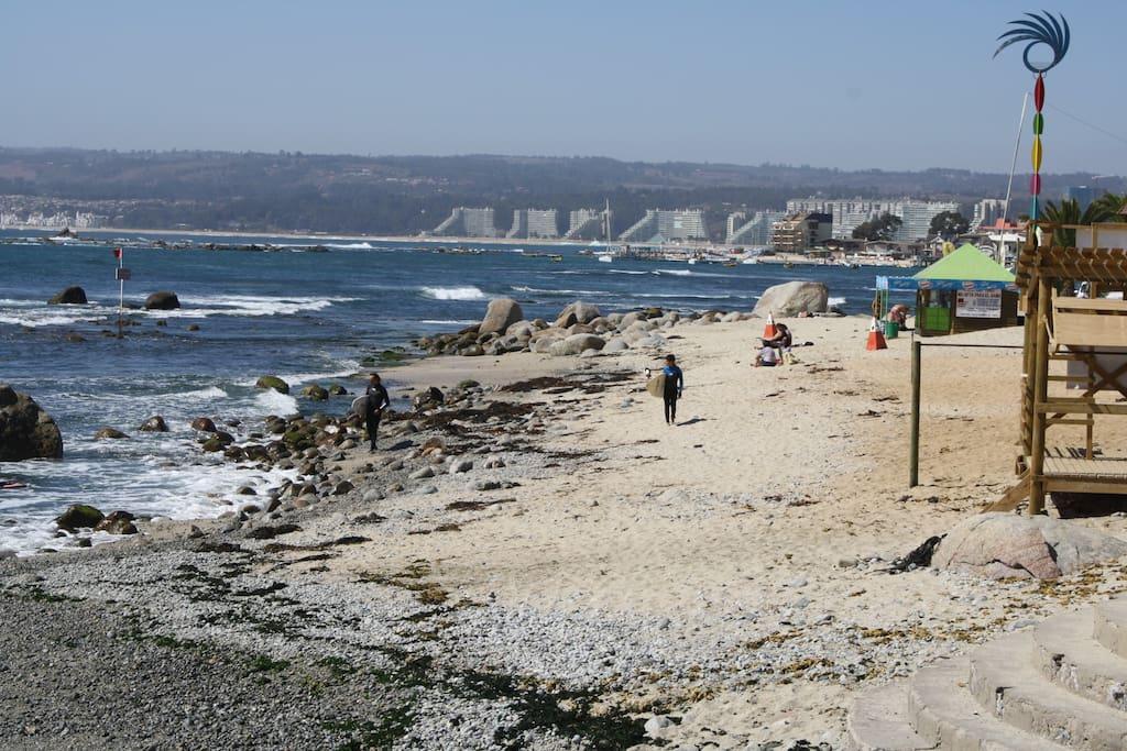 Vista de una de las playas del balneario.