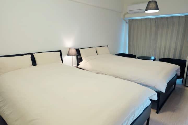 大阪下新莊公寓 免費wifi 雙人床4人