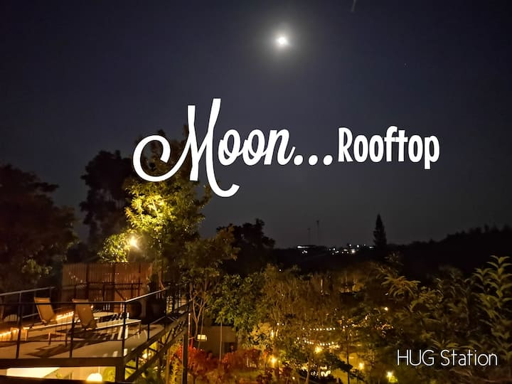 HUG Station Khaoyai , cozy home with moon rooftop