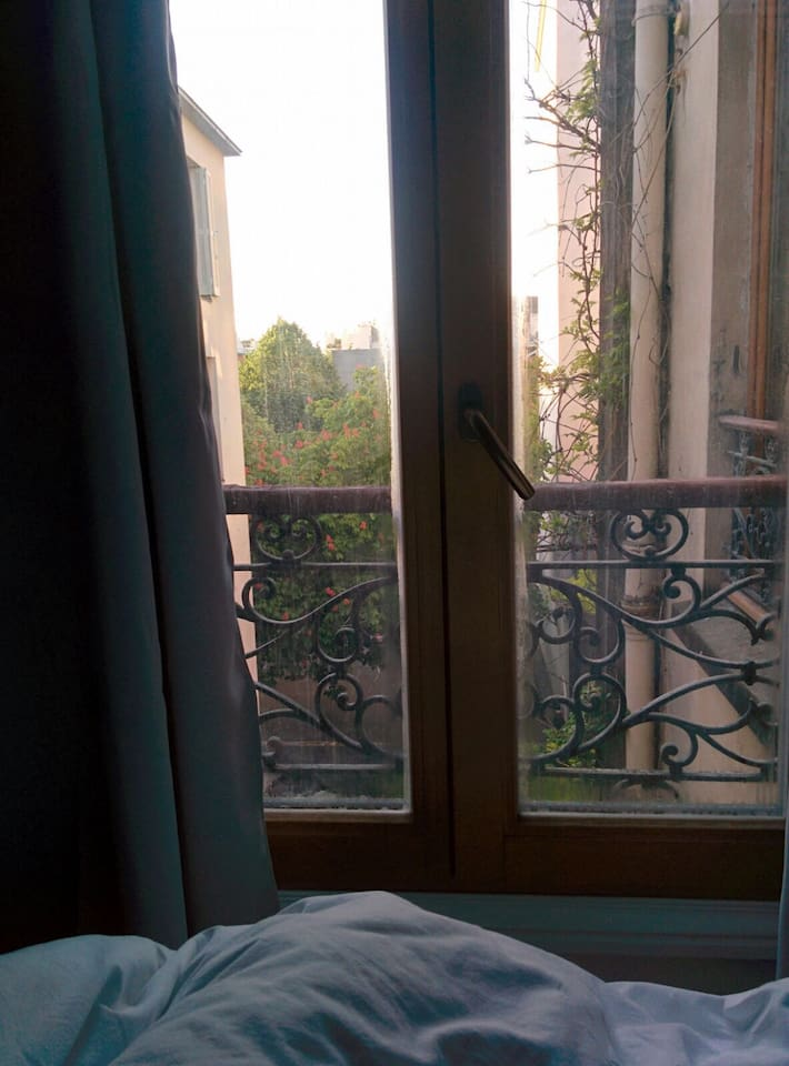View from bed on the morning (vue du lit au petit matin)