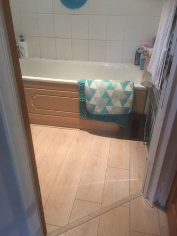 Bathroom which is down stairs