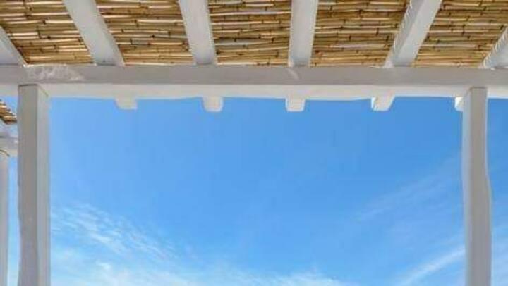 Naxos White Blue Seafront Maisonette