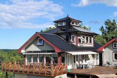 Villa Rindö - Twin loft room + Private waterfront - Villa