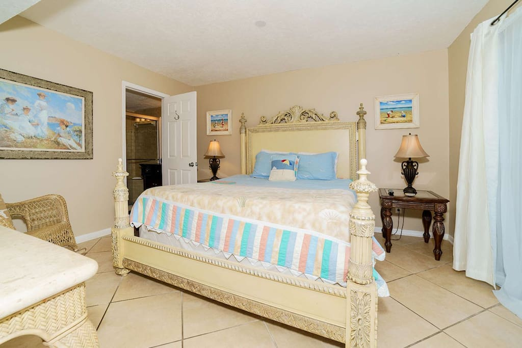 Master Bedroom with attached bathroom that has been recently renovated