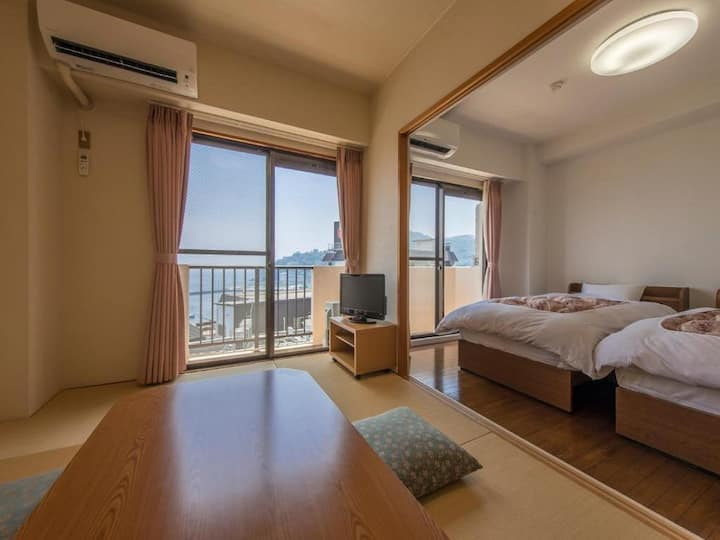 7mins->Atami Sta./JPN-West Family room+ocean view