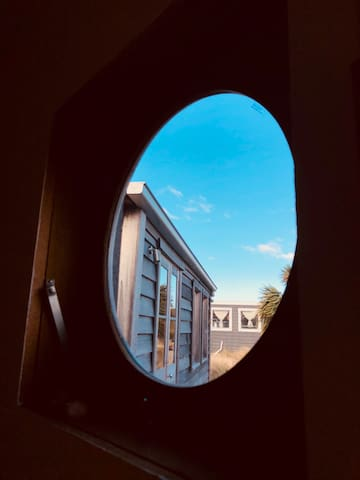 Porthole view from Sleeping Cabin