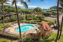 One of the three pools at Maui Vista Resort