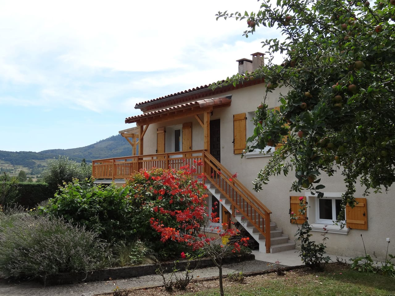 The House with the foothills of the Pyrenees in the background