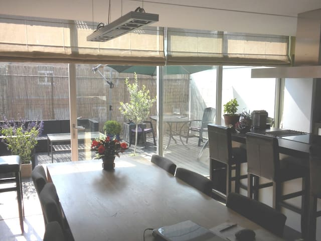 loft, 110m², with 2 large sunny terraces - Bruges - Loft