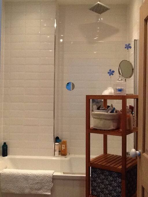 Bath, hand-held and overhead shower