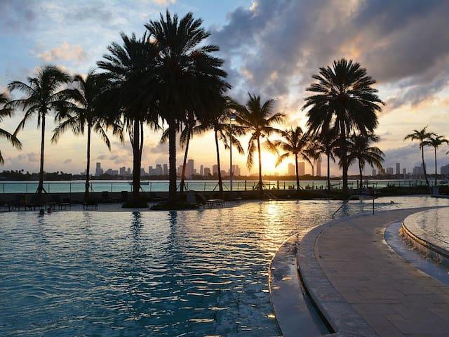 2/2 breathtaking bay view - Miami Beach