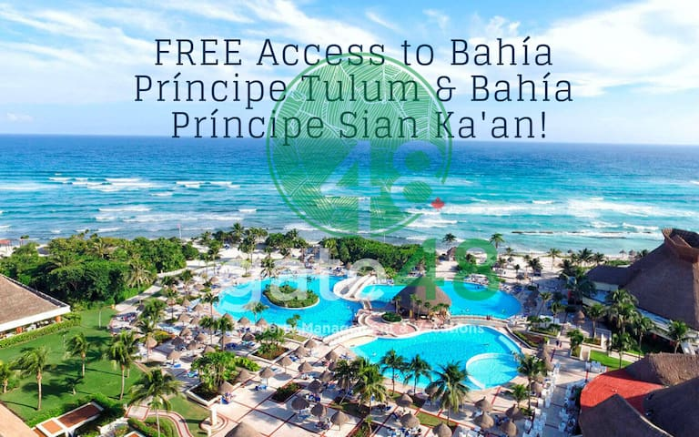 For being our guest you have FREE Access to GBP Tulum & GPB Sian Ka'an (adults only) at the beachside, just a short drive from the property.