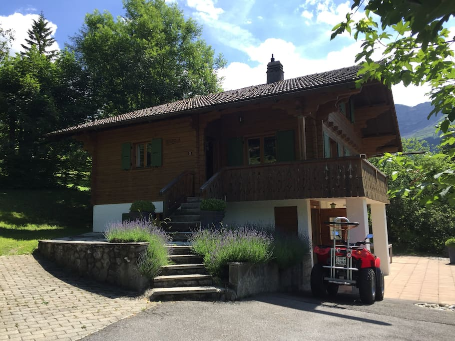 Chalet Duc in the summer