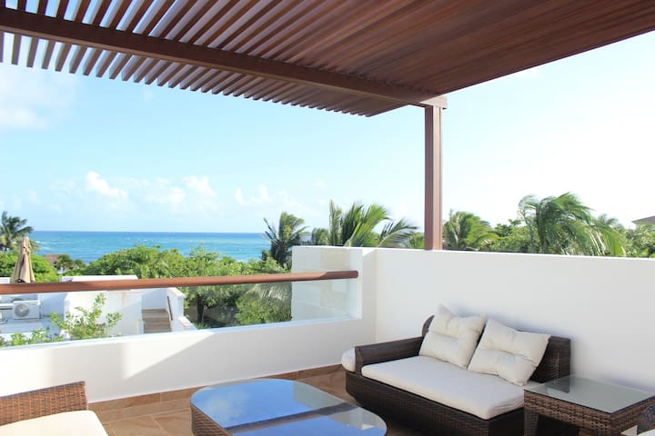 OF5 Amazing Ocean View, Private Beach Access - Akumal - House