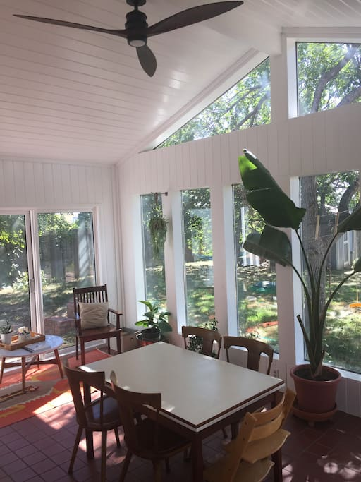 Bright & Airy Sunroom for Dining