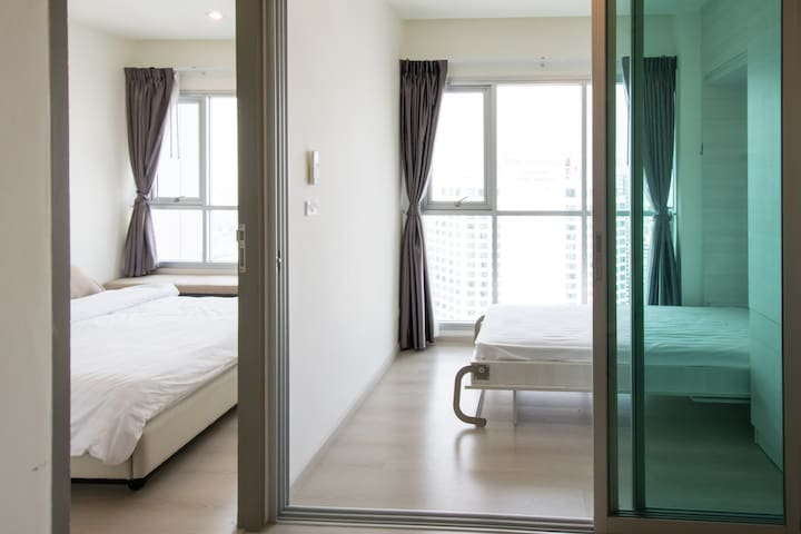 Bkk Sky View on 35th fl, 2BR near MRT Huay Khwang - Banguecoque - Apartamento
