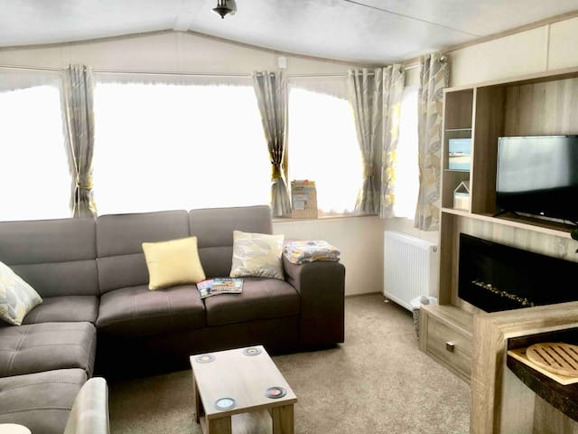 Sea views. Quiet site. Dog friendly. 2019 caravan