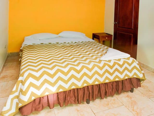 Double bed in comfortable room, Neblina. Jinotega