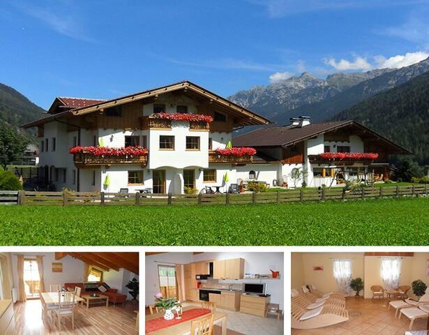 Landhaus Müller - Fewo (51m²) mit Balkon und Spa - Neustift im Stubaital - Appartement en résidence
