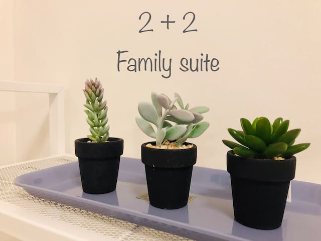 2+2 family suite [king&queen beds] @ damen mall