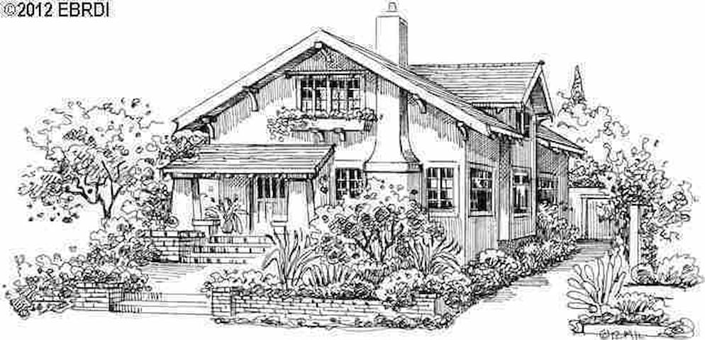 Our House! A 2800 Sq Ft Craftsman home in the Beautiful quaint Rockridge area