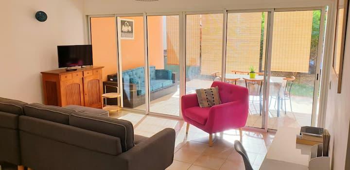 T3, 2 chambres climatisées 60m2- Flamingo