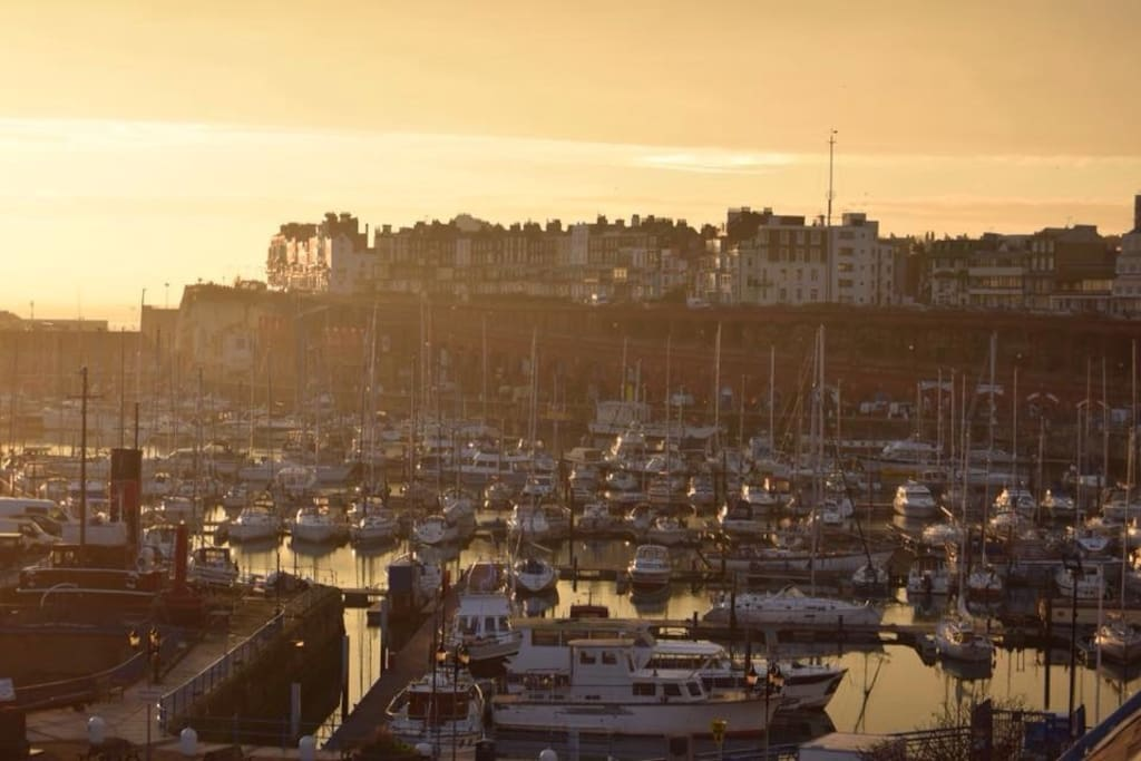 Panoramic views of our wonderful Royal harbour at sunset...