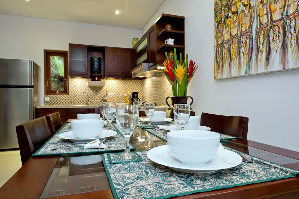 Beautiful kitchen with big table