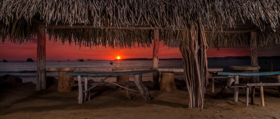Crocodile Bar and Cabañas: On beach, first floor