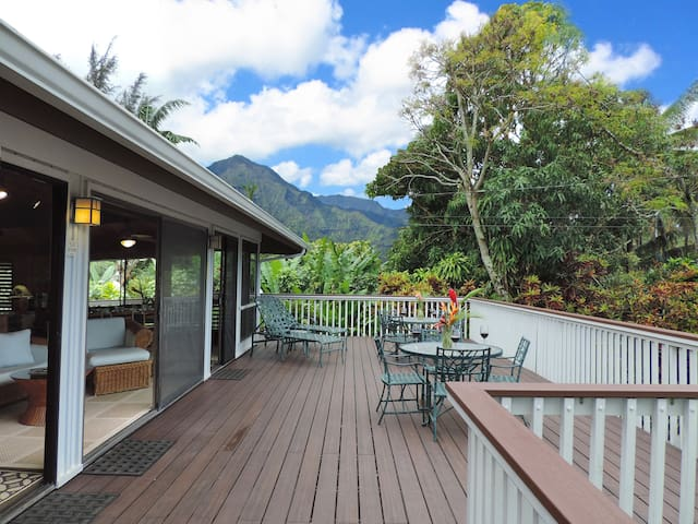 Spacious Home with perfect  location & great views - Hanalei - Haus