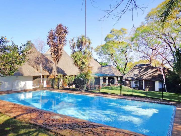 """""""Out of Africa"""" thatch in the heart of Sandton"""