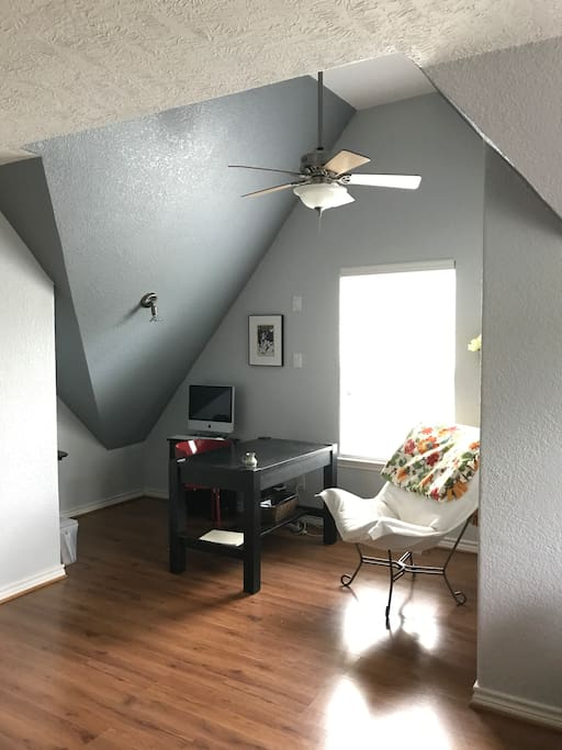 Study/work area with computer/wifi and desk in the bedroom