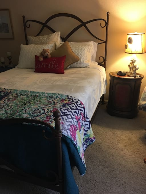 Comfy queen sized bed - guest room #1