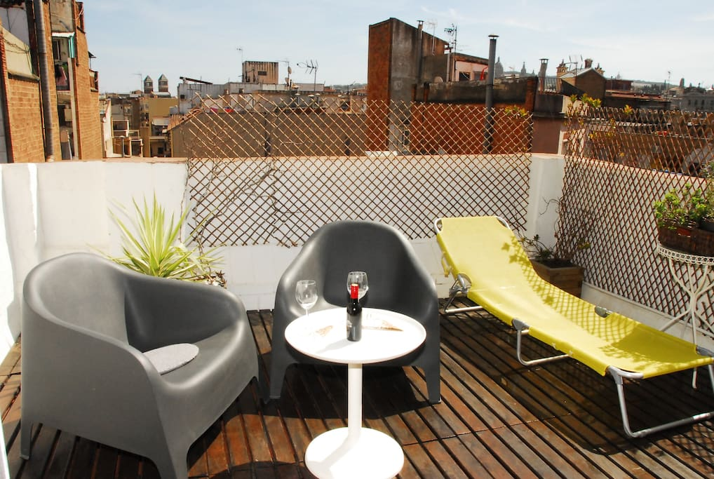 Sunny and private terrace