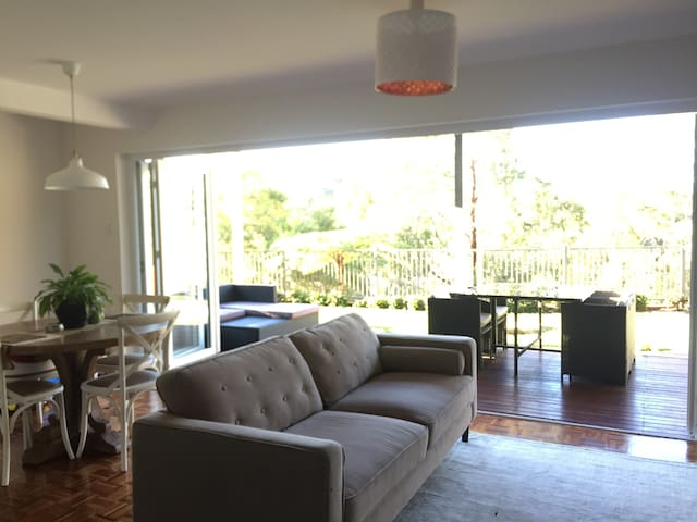 Killarney Heights home with a bushland view.