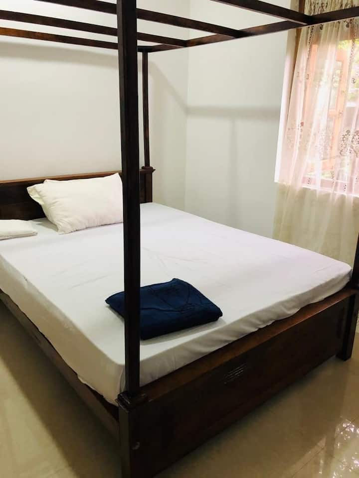 Room with fan,also we provide kitchen.