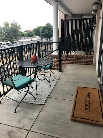 Enjoy a drink or dinner  outside on the lower patio.