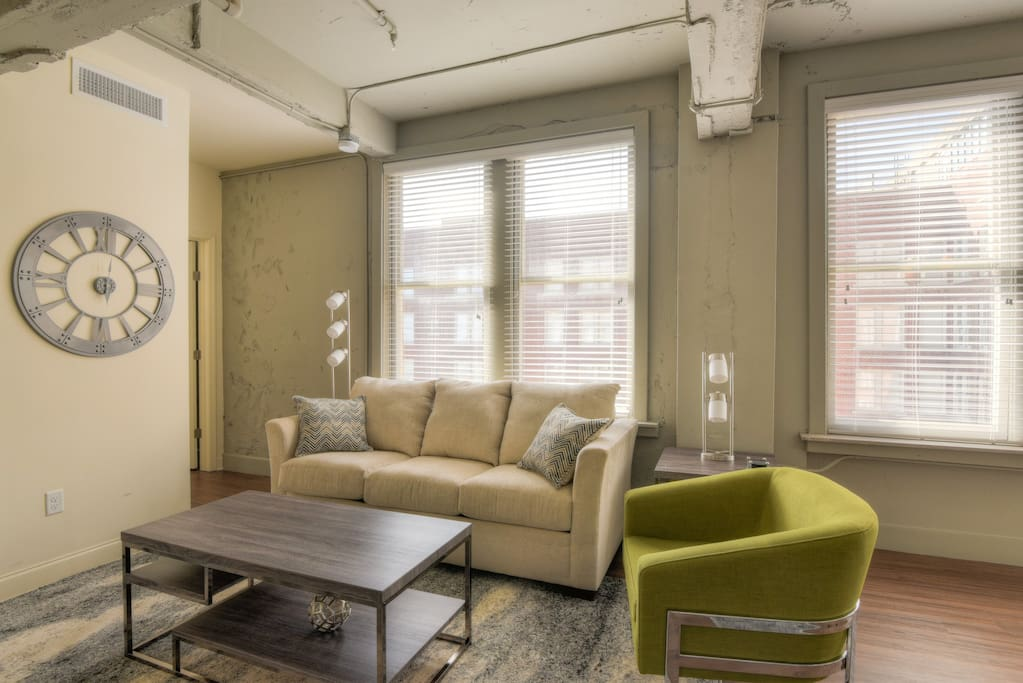 Living room at The Chisca by Stay Alfred!