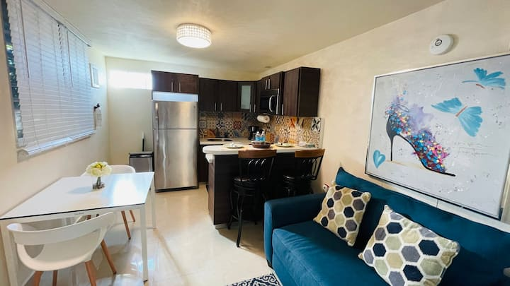 Remodeled apartment with laundry