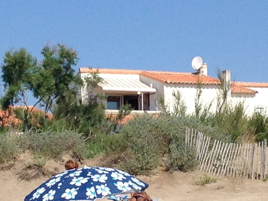 Vue de l'appartement de la plage