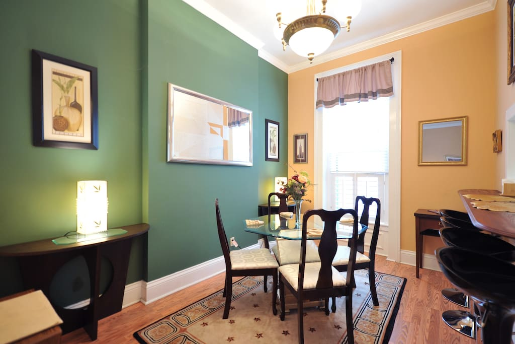 Dining Room and breakfast bar.