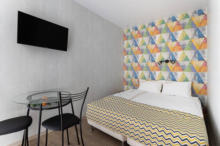 Апартаменты с 2 односпальными кроватями