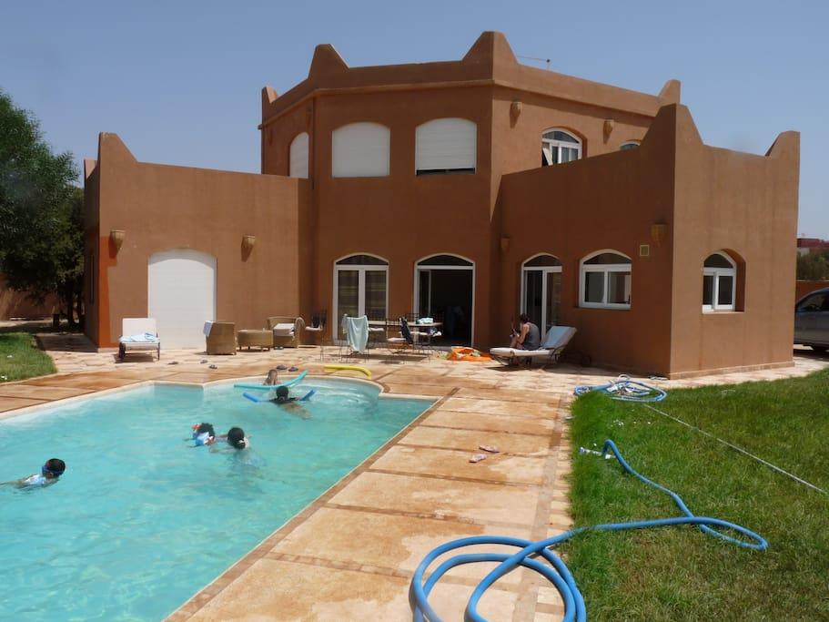 villa oasis tamait h user zur miete in agadir souss massa dr a marokko. Black Bedroom Furniture Sets. Home Design Ideas