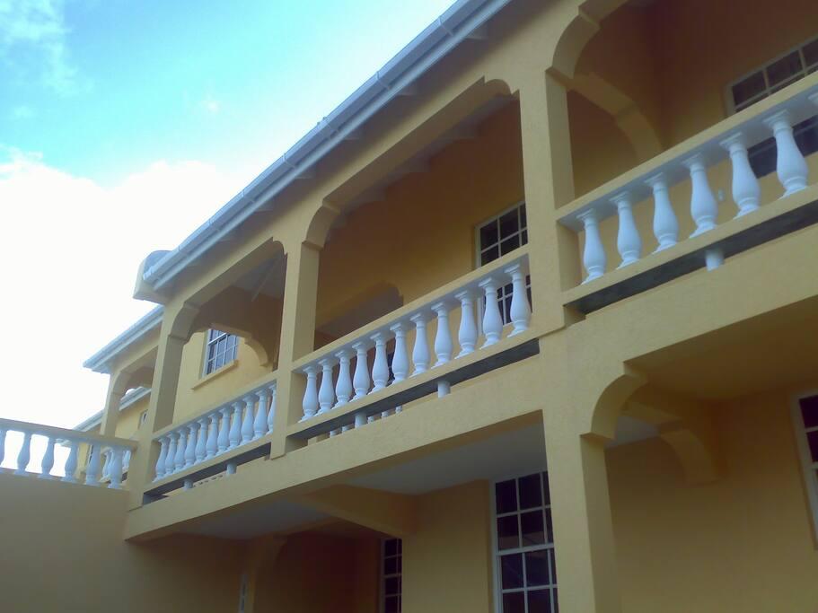 Upper floor of the Apartment Complex