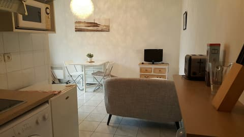 Comfortabele studio, eigen parkeerplaats in Anglet